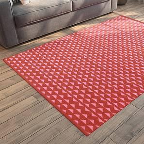 "Viviani Dhurrie (Red, Rectangle Carpet Shape, 36"" x 60"" Carpet Size) by Urban Ladder"