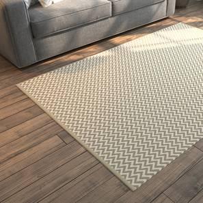 "Sargasso Dhurrie (Rectangle Carpet Shape, 48"" x 72"" Carpet Size, Ivory) by Urban Ladder"