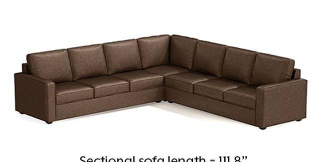 Apollo Sofa Set (Mocha, Fabric Sofa Material, Regular Sofa Size, Soft Cushion Type, Corner Sofa Type, Corner Master Sofa Component, Regular Back Type, Regular Back Height)