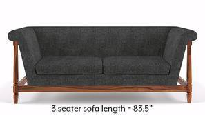 Malabar Wooden Sofa (Smoke Grey)