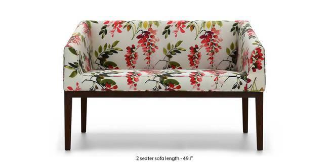 Orita Wooden Sofa (Carmine Cassia) (1-seater Custom Set - Sofas, None Standard Set - Sofas, Carmine Cassia, Fabric Sofa Material, Regular Sofa Size, Soft Cushion Type, Regular Sofa Type)