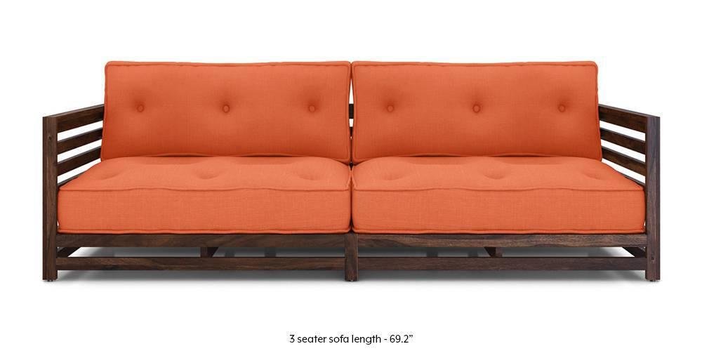 Idaho Low Wooden Sofa (Rust) - Urban Ladder
