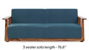 Serra Wooden Sofa - Teak Finish (Colonial Blue)