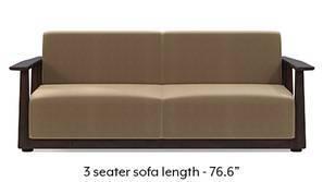 Serra Wooden Sofa - Mahogany Finish (Tuscan Tan Velvet)