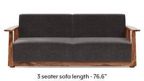 Serra Wooden Sofa - Teak Finish (Smoke Grey)