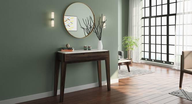 Galatea Marble Console Table (American Walnut Finish) by Urban Ladder
