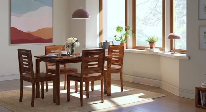 Catria - Capra 6 Seater Dining Table Set (Teak Finish) by Urban Ladder
