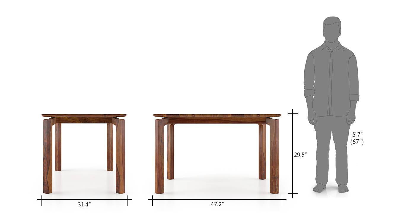 Catria 4 seater round dining table 08