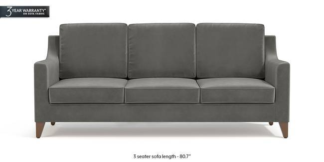 Abbey Sofa (Ash Grey Velvet) (1-seater Custom Set - Sofas, None Standard Set - Sofas, Fabric Sofa Material, Regular Sofa Size, Regular Sofa Type, Ash Grey Velvet)