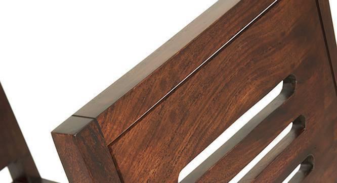 Catria - Capra 4 Seater Dining Table Set (Teak Finish) by Urban Ladder