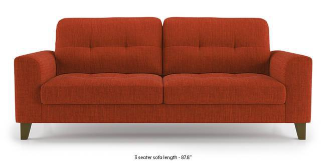 Verona Sofa (Lava Rust) (1-seater Custom Set - Sofas, None Standard Set - Sofas, Lava, Fabric Sofa Material, Regular Sofa Size, Regular Sofa Type)