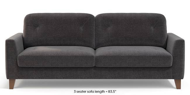 Bradford Sofa (Smoke Grey) (1-seater Custom Set - Sofas, None Standard Set - Sofas, Smoke, Fabric Sofa Material, Regular Sofa Size, Regular Sofa Type)