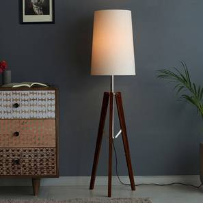 Calgary Floor Lamp (White Shade Color) by Urban Ladder