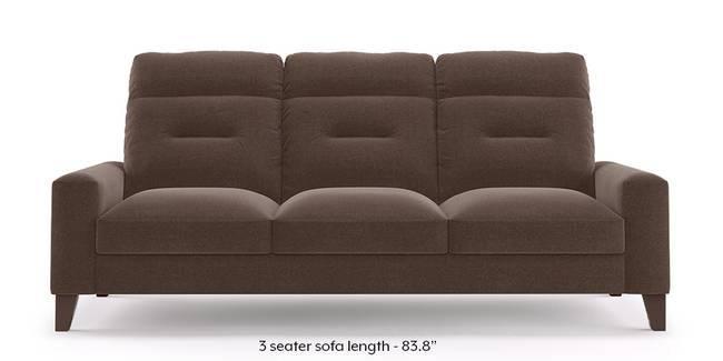 Siena Sofa (Daschund Brown) (1-seater Custom Set - Sofas, None Standard Set - Sofas, Fabric Sofa Material, Regular Sofa Size, Regular Sofa Type, Daschund Brown)