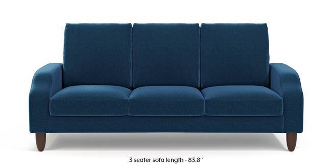 Devon Sofa (Cobalt Blue) (1-seater Custom Set - Sofas, None Standard Set - Sofas, Cobalt, Fabric Sofa Material, Regular Sofa Size, Regular Sofa Type)