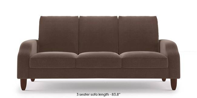 Devon Sofa (Daschund Brown) (1-seater Custom Set - Sofas, None Standard Set - Sofas, Fabric Sofa Material, Regular Sofa Size, Regular Sofa Type, Daschund Brown)