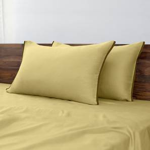 Serena 300 TC Sateen Bedsheet Set (Double Size, Solid Antique Moss) by Urban Ladder