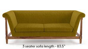 Malabar Wooden Sofa (Olive Green)