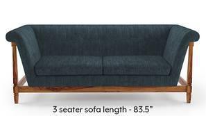 Malabar Wooden Sofa (Indigo Blue)