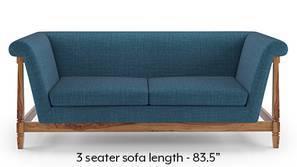 Malabar Wooden Sofa (Colonial Blue)