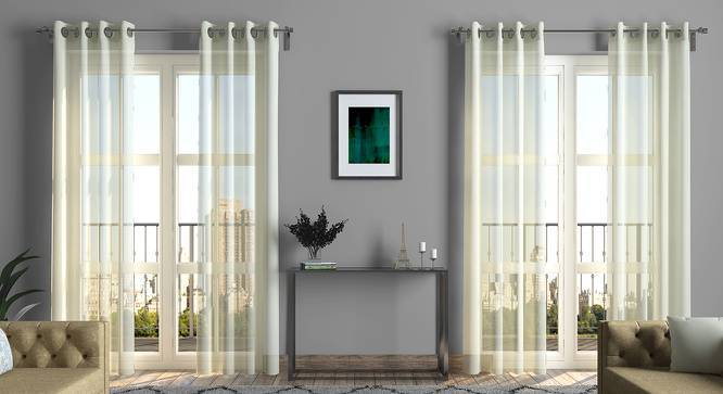 """Kohilo Sheer Door Curtains - Set Of 2 (White, 52""""x108"""" Curtain Size) by Urban Ladder"""