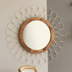 Como Wall Mirror (Natural Finish) by Urban Ladder