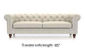 Winchester Fabric Sofa (Pearl White)