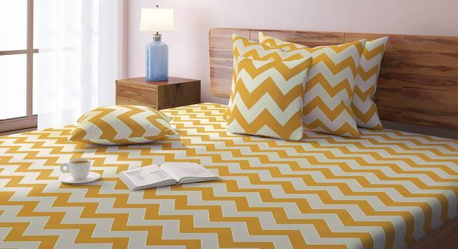 Chevron Bedsheet Set (Yellow, King Size) by Urban Ladder