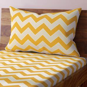 Chevron Bedsheet Set (Yellow, Single Size) by Urban Ladder