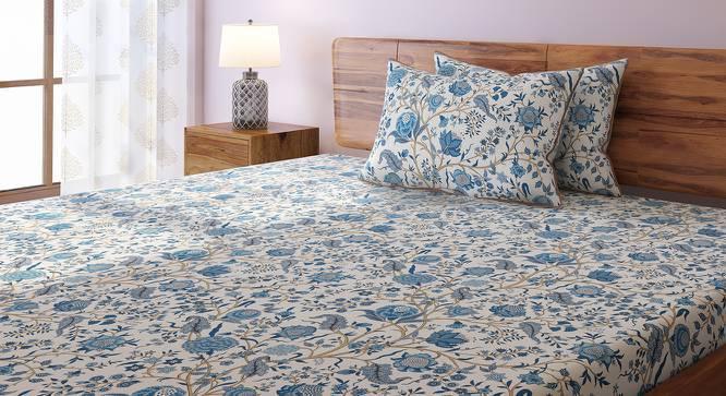 Calico Bedsheet Set (King Size, Indigo Pattern) by Urban Ladder