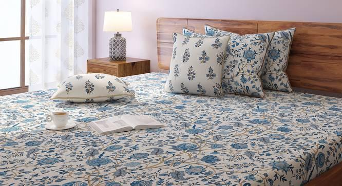 Calico Bedsheet Set (Double Size, Indigo Pattern) by Urban Ladder