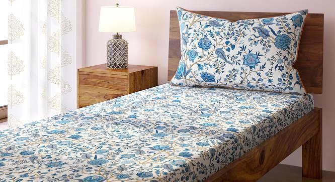 Calico Bedsheet Set (Single Size, Indigo Pattern) by Urban Ladder