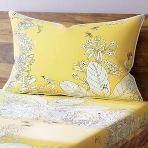 Secret Garden Bedsheet Set (Single Size, Contour Yellow) by Urban Ladder
