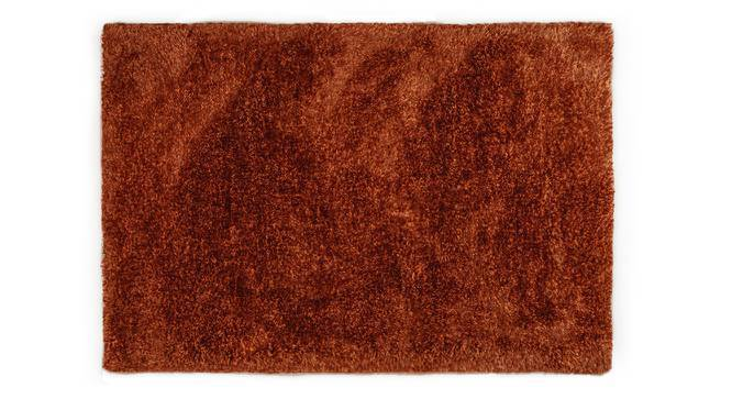 "Linton Shaggy Rug (Rust, 36"" x 60"" Carpet Size) by Urban Ladder"