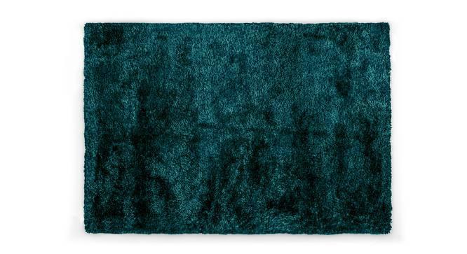 "Linton Shaggy Rug (60"" x 96"" Carpet Size, Teal) by Urban Ladder"