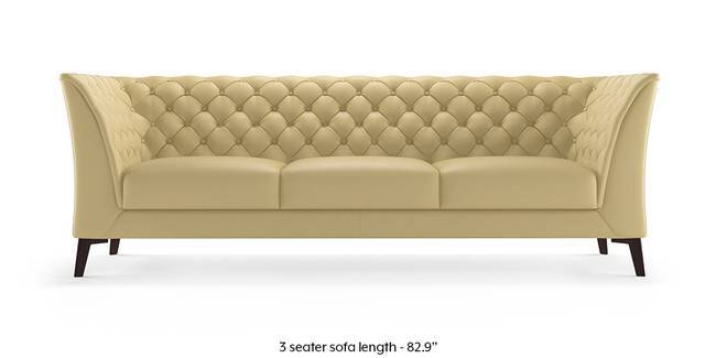 Weston Half Leather Sofa Cream Italian 1