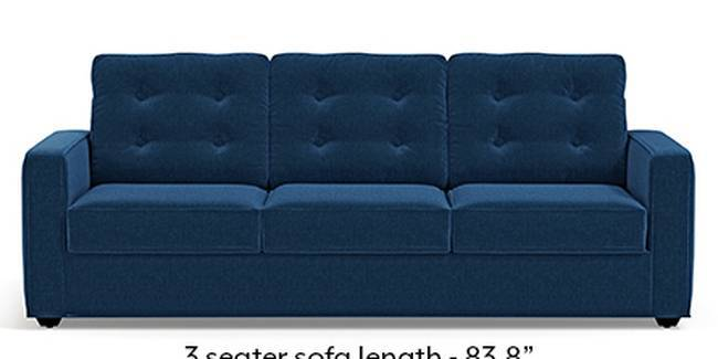 Apollo Sofa Set (Cobalt, Fabric Sofa Material, Regular Sofa Size, Soft Cushion Type, Regular Sofa Type, Master Sofa Component, Tufted Back Type, Regular Back Height)