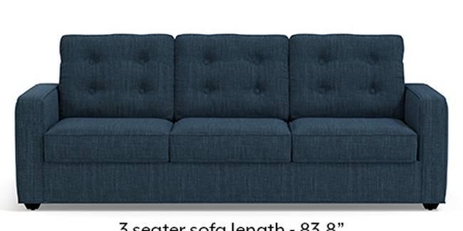 Apollo Sofa Set (Indigo Blue, Fabric Sofa Material, Regular Sofa Size, Soft Cushion Type, Regular Sofa Type, Master Sofa Component, Tufted Back Type, Regular Back Height)