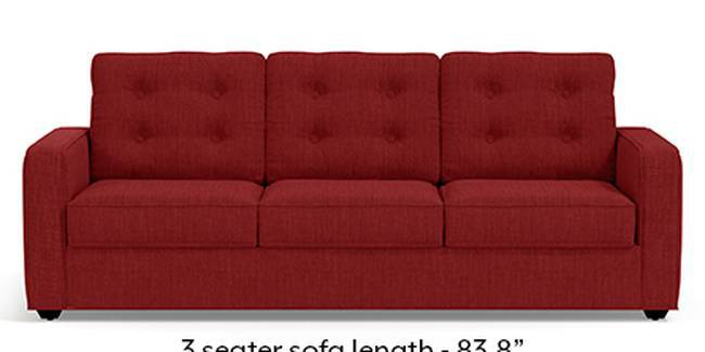 Apollo Sofa Set (Fabric Sofa Material, Regular Sofa Size, Soft Cushion Type, Regular Sofa Type, Master Sofa Component, Salsa Red, Tufted Back Type, Regular Back Height)