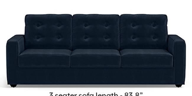Apollo Sofa Set (Fabric Sofa Material, Regular Sofa Size, Soft Cushion Type, Regular Sofa Type, Master Sofa Component, Sea Port Blue Velvet, Tufted Back Type, Regular Back Height)