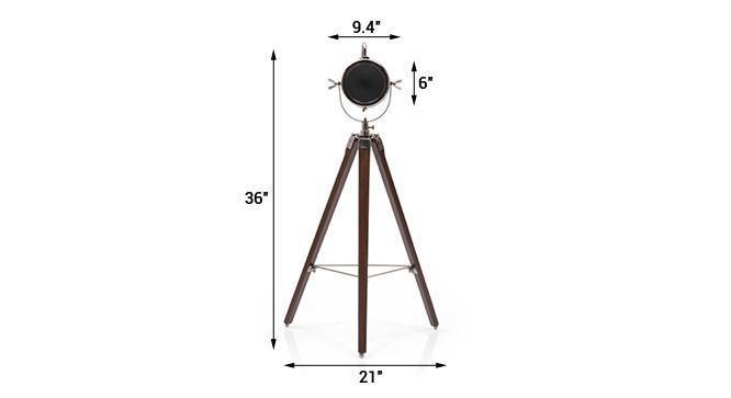 Belfast tripod spotlight nickel   teak 08 img 0008 2 dm