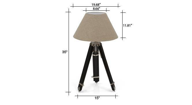 Hubble tripod floor lamp natural linen conical shade 07 img 0702 dm