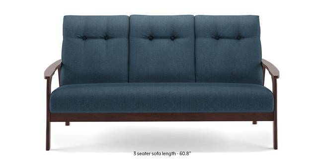 Amos Wooden Sofa (Blue) (Blue, 3-seater Custom Set - Sofas, None Standard Set - Sofas, Fabric Sofa Material, Regular Sofa Size, Regular Sofa Type)
