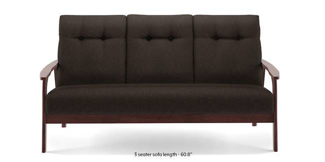 Amos Wooden Sofa (Brown) (Brown, 1-seater Custom Set - Sofas, None Standard Set - Sofas, Fabric Sofa Material, Regular Sofa Size, Regular Sofa Type)