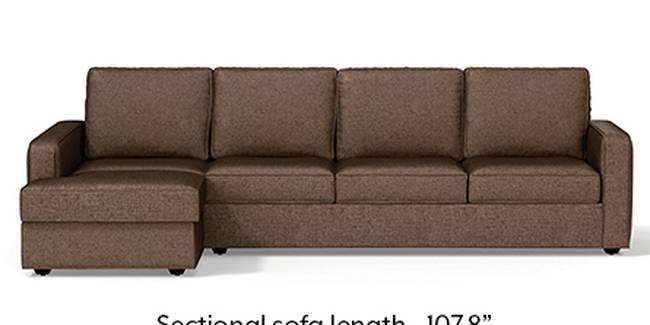Apollo Sofa Set (Mocha, Fabric Sofa Material, Regular Sofa Size, Soft Cushion Type, Sectional Sofa Type, Sectional Master Sofa Component, Regular Back Type, Regular Back Height)
