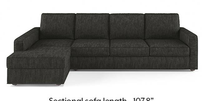 Apollo Sofa Set (Fabric Sofa Material, Regular Sofa Size, Soft Cushion Type, Sectional Sofa Type, Sectional Master Sofa Component, Graphite Grey, Regular Back Type, Regular Back Height)
