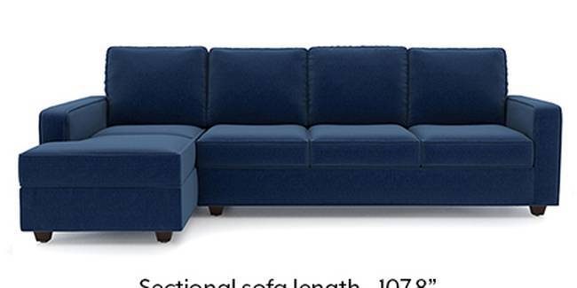 Apollo Sofa Set (Fabric Sofa Material, Regular Sofa Size, Soft Cushion Type, Sectional Sofa Type, Sectional Master Sofa Component, Lapis Blue, Regular Back Type, Regular Back Height)