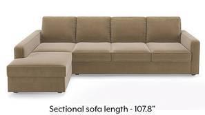 Apollo Sectional Sofa (Tuscan Tan Velvet)