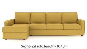 Apollo Sectional Sofa (Corn Silk Yellow)