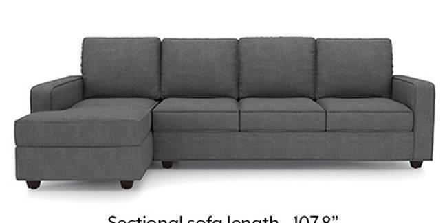 Apollo Sofa Set (Smoke, Fabric Sofa Material, Regular Sofa Size, Soft Cushion Type, Sectional Sofa Type, Sectional Master Sofa Component, Regular Back Type, Regular Back Height)